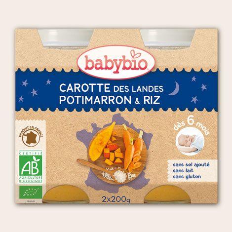 Carotte des Landes, potimarron et riz (dès 6 mois) 2 x 200 g