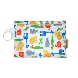 Pochette pour collations en coton BIO - Zoo