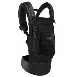 PhysioCarrier coton noir et poche noir