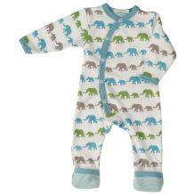 Pyjama - Combi avec pieds en coton BIO - Eléphants