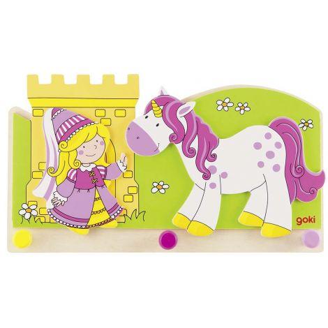"""Porte-manteaux """"Princesse et licorne"""" -  à partir de 3 ans *"""