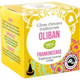 Cônes d'encens traditionnels Oliban 100% naturel