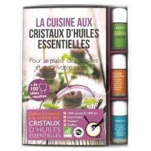 Coffret d'initiation à la cuisine aux cristaux d'huiles essentielles + livre