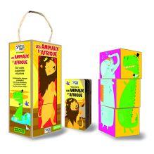 Cubes et livre Les animaux d'Afrique - à partir de 2 ans*