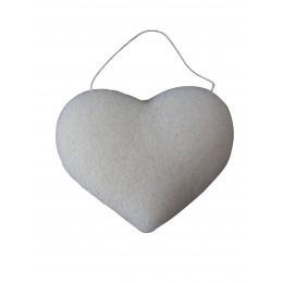 """Eponge Konjac """"Coeur"""" - Argile blanche / peaux matures"""