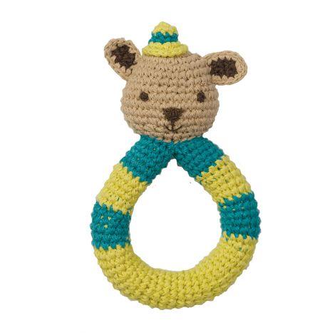 Hochet en crochet Peppa - Ecureuil - dès la naissance