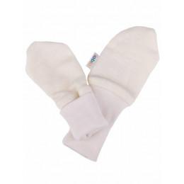 Moufles anti-griffures Iobio en coton BIO - Ecru