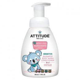 Tout-petits : 3 en1 shampooing, gel douche et après-shampooing - sans parfum -  300ml **