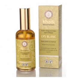 Huile ayurvédique au lys blanc pour visage et corps - pour peau sèche et mature - 100 ml