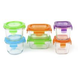 Set de 6 boîtes en verre trempée avec couvercle pour les repas de bébé