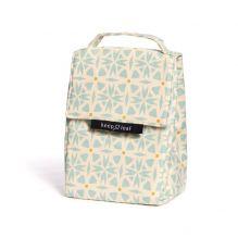 Lunch bag isotherme en coton BIO - motif geo