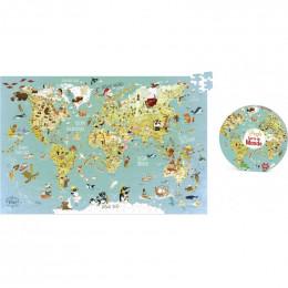 Puzzle carte du Monde 500 pièces - à partir de 8 ans