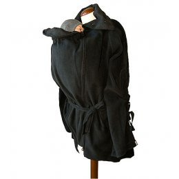 Veste tunique de maternité en laine - Phantom Black #