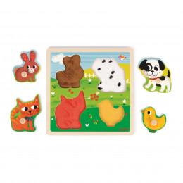 Puzzle tactile Mes premiers animaux - A partir de 1 an