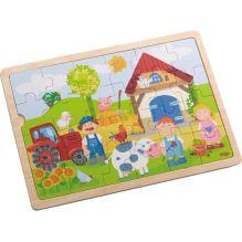 Puzzle en bois 24 - La ferme d'Antoine - à partir de 3 ans