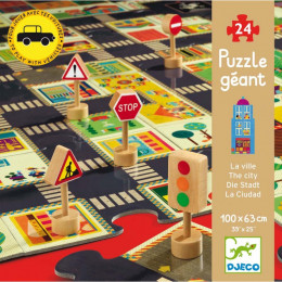Puzzle géant - La ville - 24 pcs - A partir de 3 ans