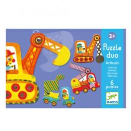 Puzzle duo Articulo véhicule - à partir de 2 ans