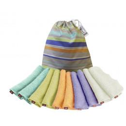 Lingettes lavables x 10 - couleurs Pastel