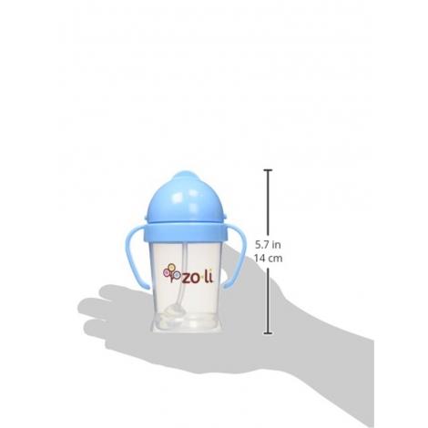 Gobelet avec paille  Sans BPA ni phtalate Bleu - 270 ml