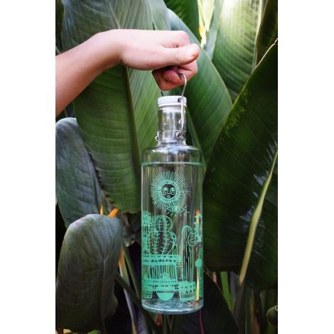 """Bouteille en verre 1 litre """" Cactus """""""