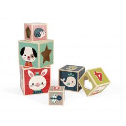 Pyramide 6 cubes 'Baby Forest' - à partir de 1 an