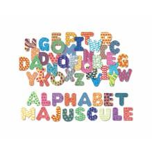 Magnets en bois 'Lettres majuscules' alphabet - à partir de 3 ans