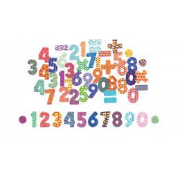 Magnets chiffres en bois - à partir de 3 ans