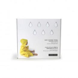 Cape de bain bébé + débarbouillette 100 % coton Bio