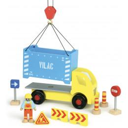 Camion porte-containers et accessoires de chantier 'Vilacity' - à partir de 3 ans