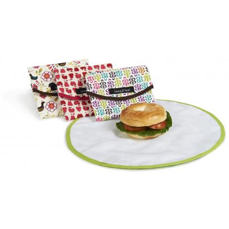 Pochette ronde pour goûters et sandwiches - Mesh