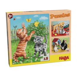Puzzles 'Animaux de compagnie' - à partir de 3 ans