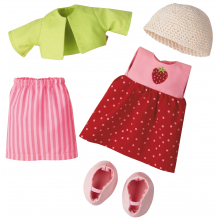 Ensemble de vêtements 'Fraise' pour poupée - à partir de 18 mois