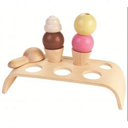Set crèmes glacées en bois - à partir de 3 ans