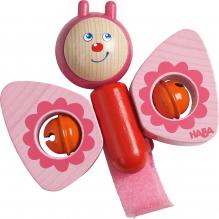 Papillon sonore rose pour poussette - à partir de 1 an