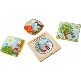 Puzzle en bois 'Ma saison préférée' - à partir de 3 ans