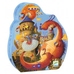 Puzzle Silhouette 'Vaillant & les dragons' - 54 pièces - à partir de 5 ans