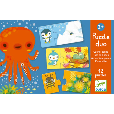 Puzzle duo 'Cache-cache' - à partir de 2 ans