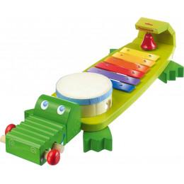 Instrument de musique 4-en-1 Crocodile - à partir de 2 ans