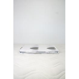 Housse de couette enfant 140 x 200 cm + 1 taie 60 x 60 cm Coton Bio Coeurs gris