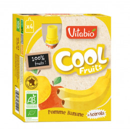 Cool Fruits - Pomme Banane - Lot de 4 Gourdes