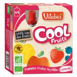 Cool Fruits - Pomme Fraise Myrtille - Lot de 4 Gourdes
