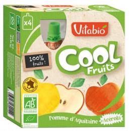 Cool Fruits - Pomme - Lot de 4 Gourdes