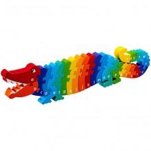 """Puzzle en bois 3D """"Crocodile A/Z"""" - à partir de 3 ans"""