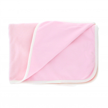 Couverture velours réversible en coton Bio - Rose pâle