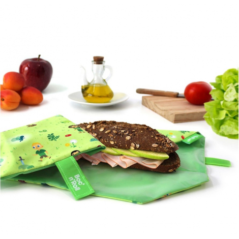 Pochette sandwich lavable et réutilisable Boc'n'Roll - Kid Green