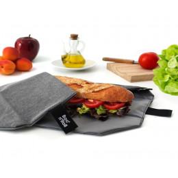 Pochette sandwich lavable et réutilisable Boc'n'Roll - Eco Black