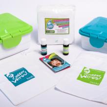 """Kit TE1 lingettes lavables - Coton Bio """" zero Twist """" - Blanc"""