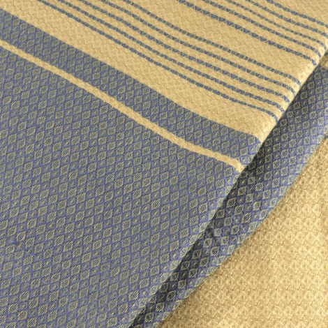 Fouta Sand en coton Bio Bleu de Chine 100 x 200 cm