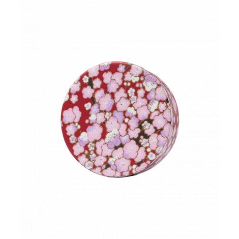 Bouchon washi pour théière en verre - Rouge rose