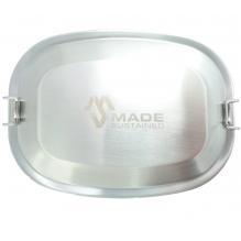 Lunchbox rectangulaire en inox avec clips Medium